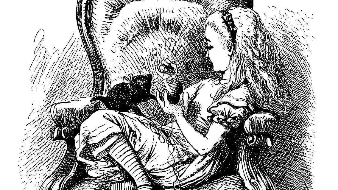 Alice in Wonderland engraving